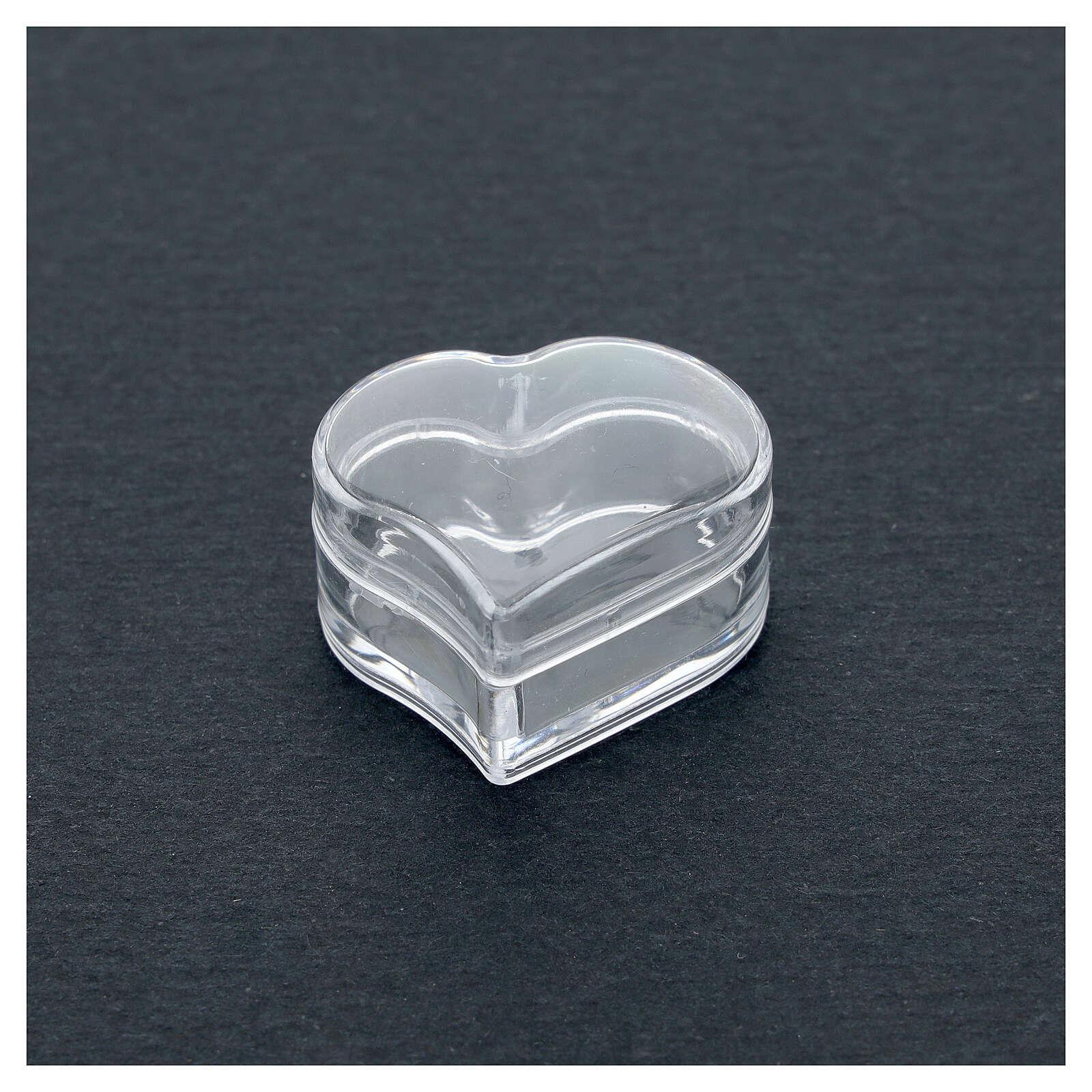 Rosary holder heart beads 3 mm 4