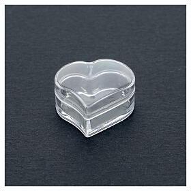 Rosary holder heart beads 3 mm s2