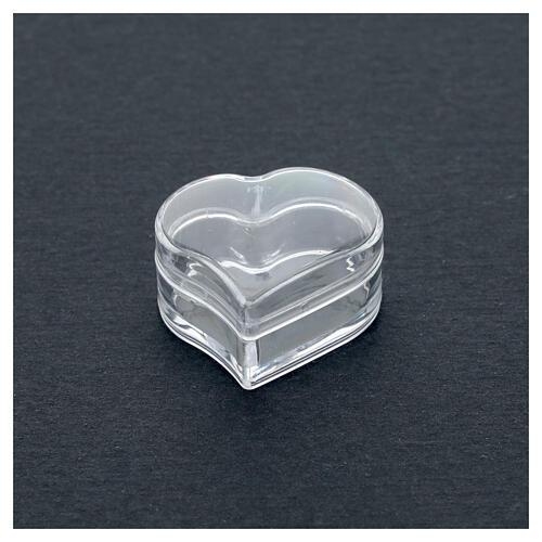 Rosary holder heart beads 3 mm 2