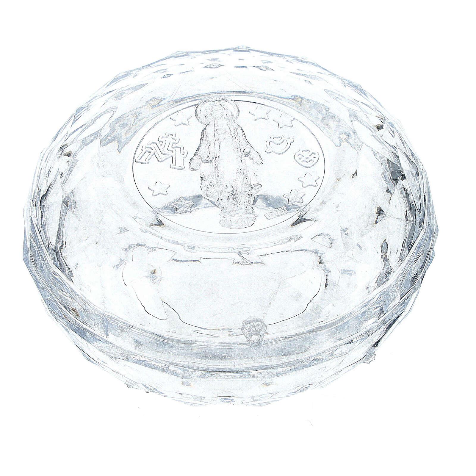 Caja para rosario efecto diamantado granos 3-4 mm 4