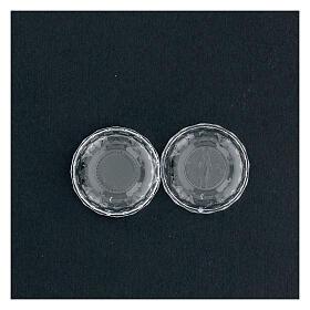 Portarosario effetto diamantato grani 3-4 mm s4