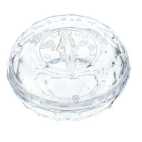Portarosario effetto diamantato grani 3-4 mm 1