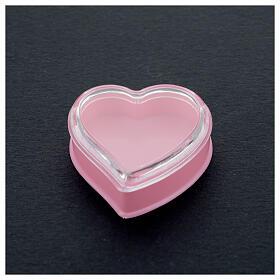 Cuore fondo rosa portarosario grani 4 mm s2