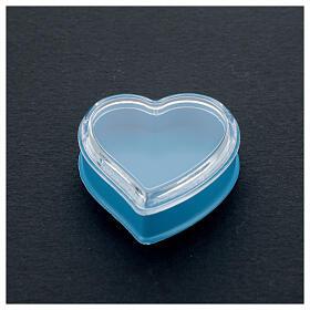 Scatola cuore fondo azzurro rosari 4 mm s2