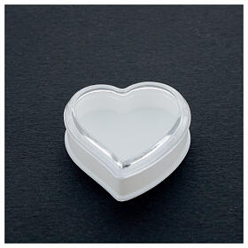 Étui à chapelet coeur fond blanc grains 4 mm s2