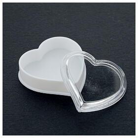 Portarosario cuore fondo bianco grani 4 mm s3