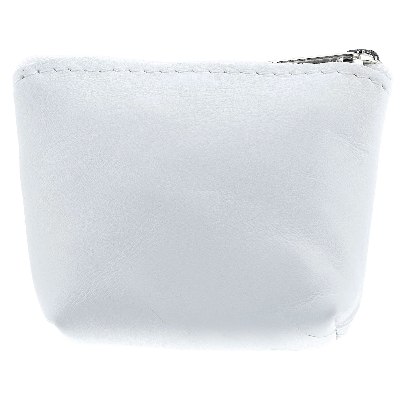 Divine Mercy white leather rosary bag 7x9x3 cm 4