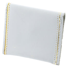 White leather rosary case My Rosary 2x3 in s2