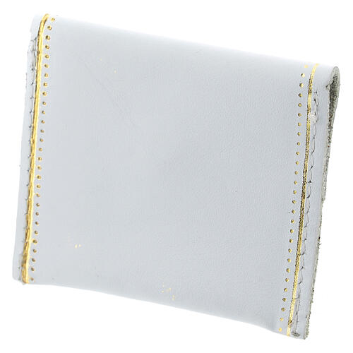 White leather rosary case My Rosary 2x3 in 2