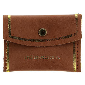 Bag Merciful Jesus real leather 8.5x6.5 cm s1