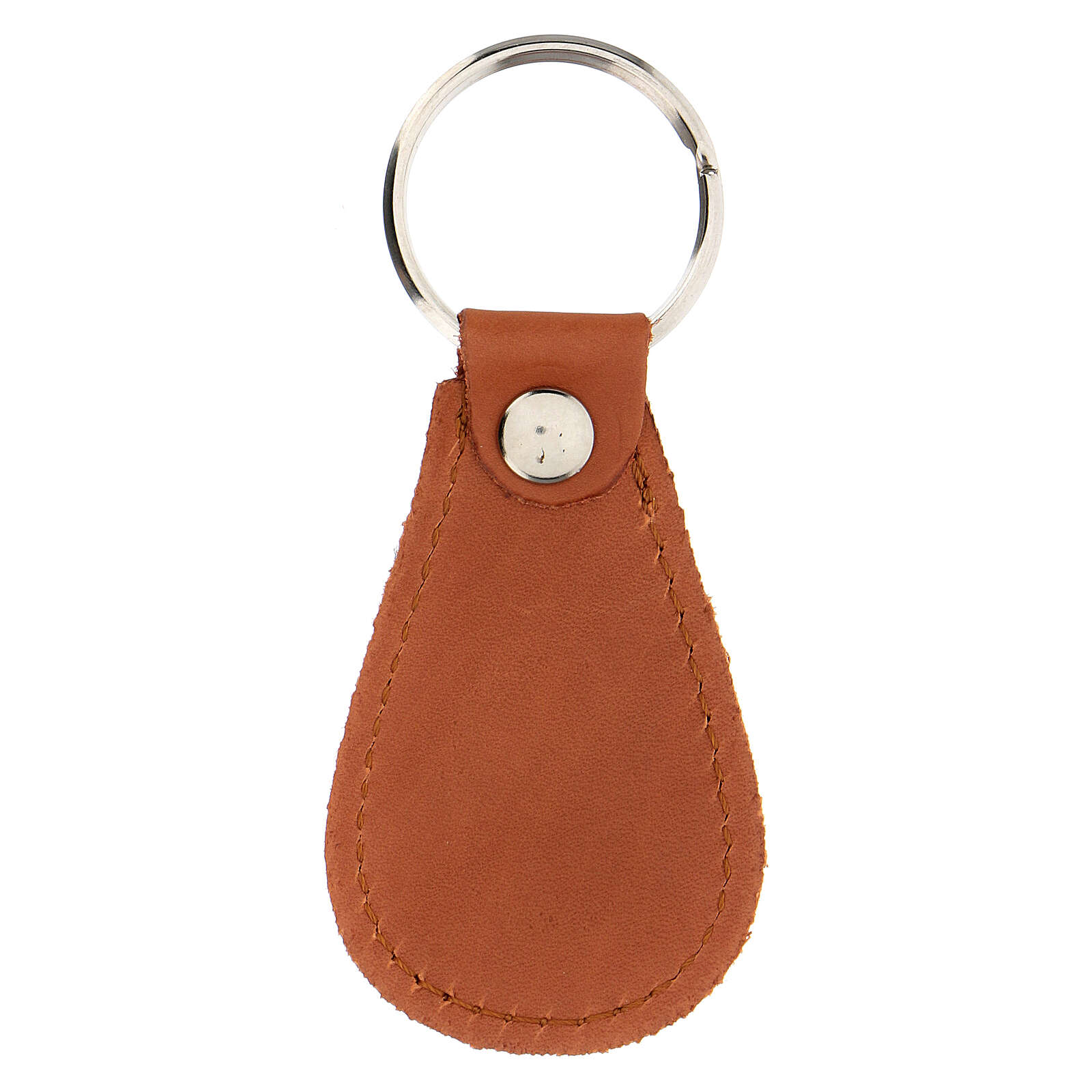 Drop-shaped keyring Divine Mercy real leather 4 in 3