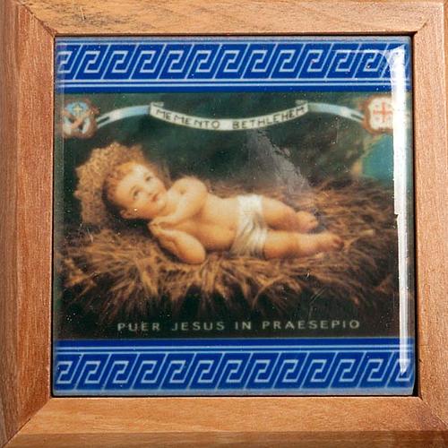 Pudełeczko na różaniec drewno oliwne Dzieciątko Jezus 2