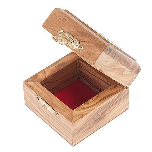 Pudełeczko na różaniec drewno oliwne Dzieciątko Jezus 3