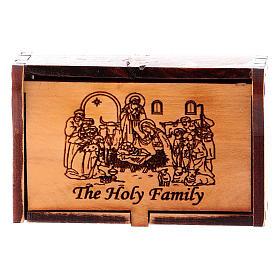Rosary case in olive wood, bethlehem nativity s1