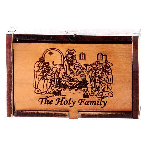 Rosary case in olive wood, bethlehem nativity 1