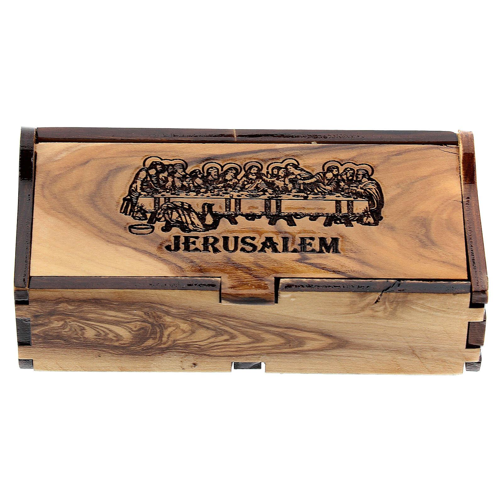 Porta rosario olivo Jerusalén Última Cena 4