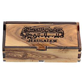 Porta rosario olivo Jerusalén Última Cena s1