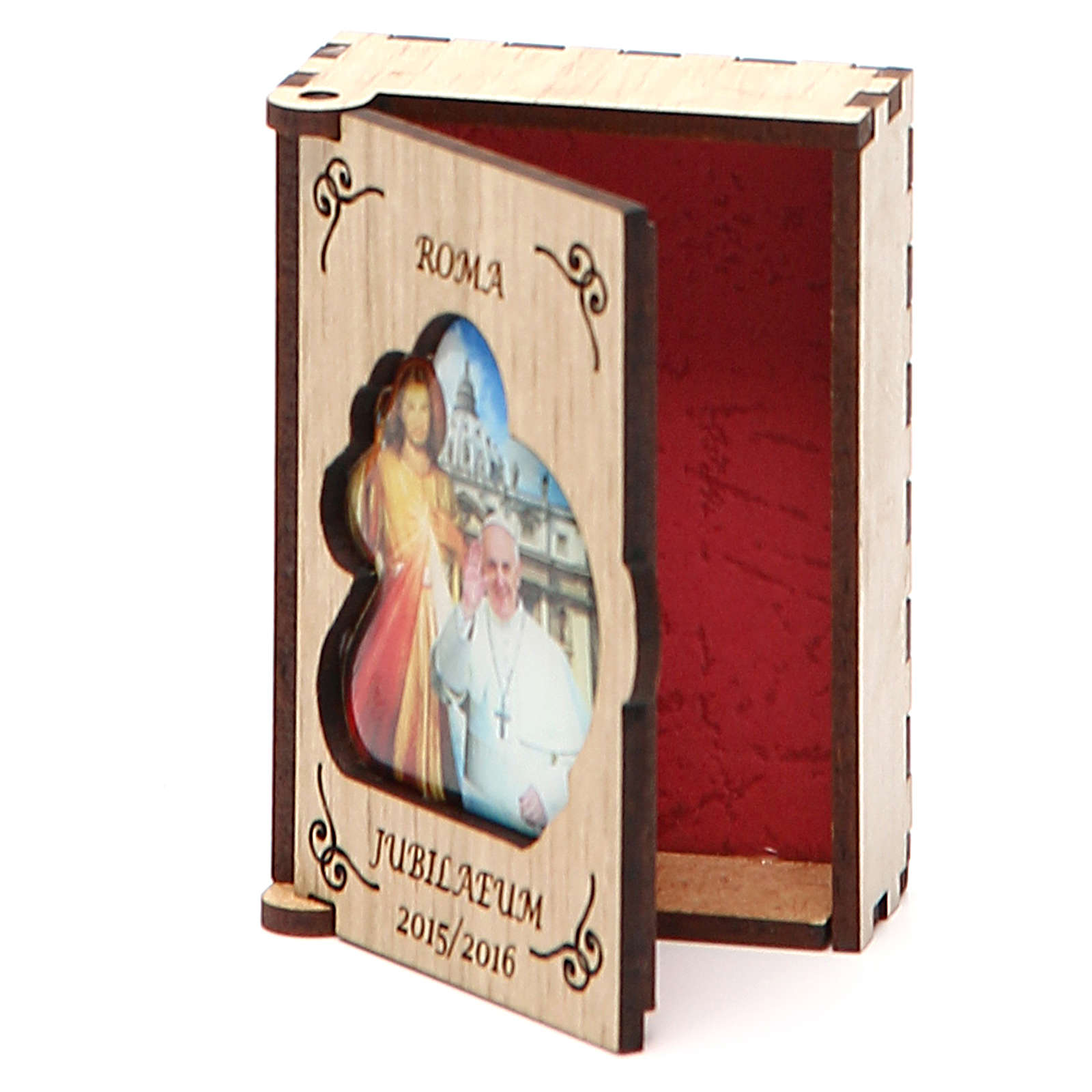 STOCK Rosenkranzetui aus Holz Jubilaeum Papst Franziskus 4