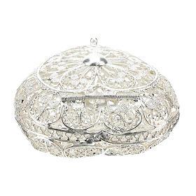 Caja para rosario filigrana de plata 800 en forma de corazón s4