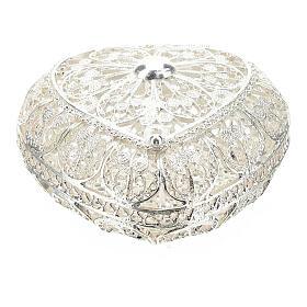 Portarosario filigrana in argento 800 a forma di cuore s1