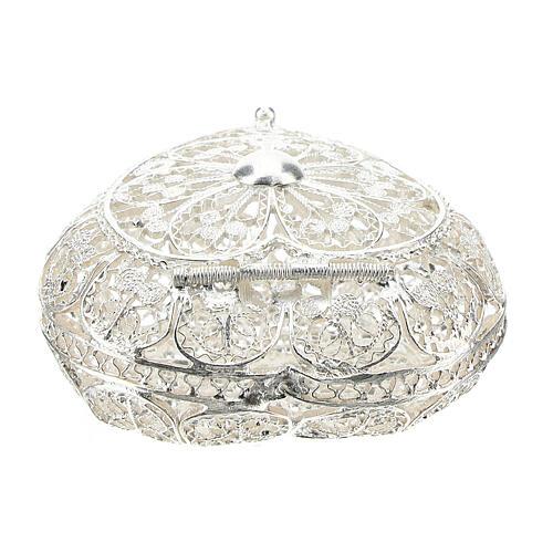 Portarosario filigrana in argento 800 a forma di cuore 4