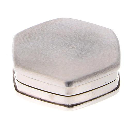 Caja para rosario hexagonal de plata 925 con incisiones 3