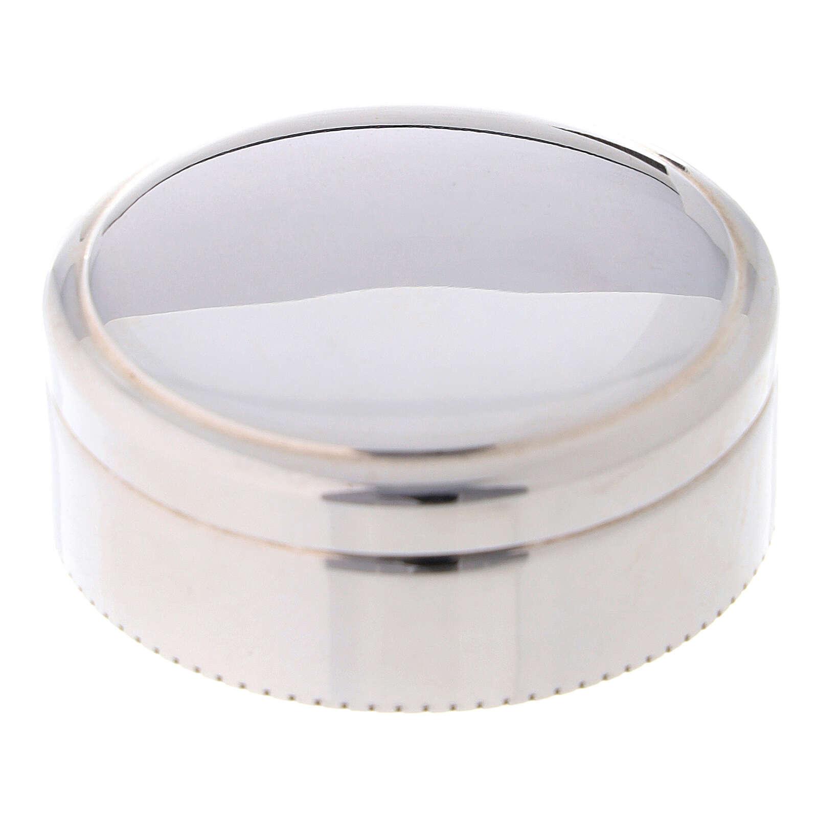 Portarosario tondo in argento 925 liscio 4