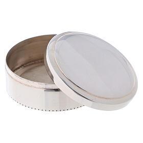 Portarosario tondo in argento 925 liscio s2