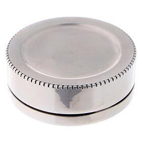 Portarosario tondo in argento 925 liscio s3