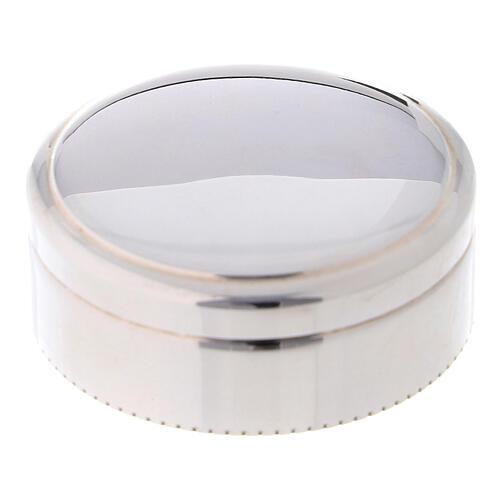 Portarosario tondo in argento 925 liscio 1