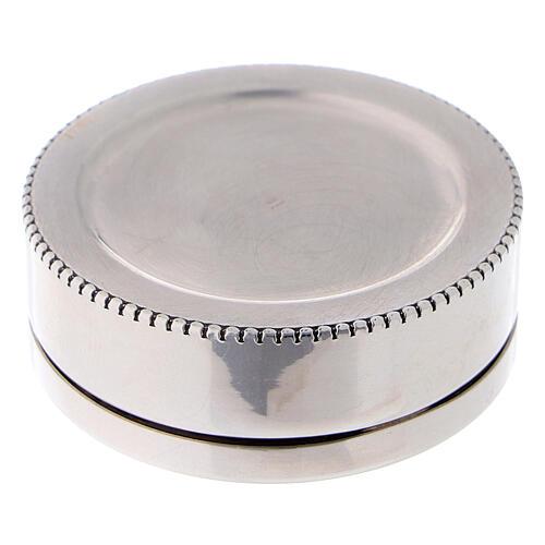 Portarosario tondo in argento 925 liscio 3