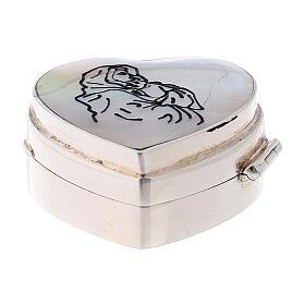 Portarosario cuore Madonna Ferruzzi in argento 925 s1