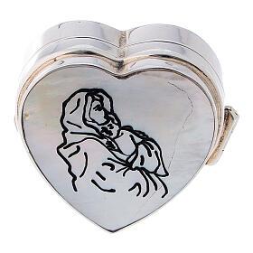 Portarosario cuore Madonna Ferruzzi in argento 925 s2