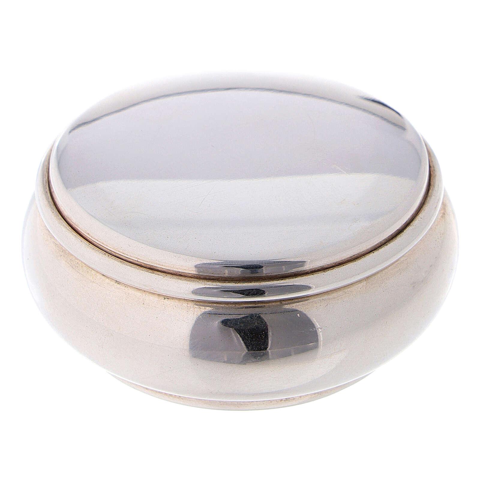Portarosario rotondo 4 cm in argento 925 4
