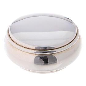 Portarosario rotondo 4 cm in argento 925 s1