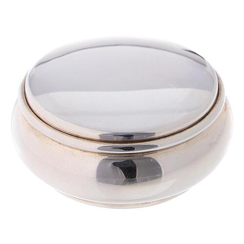 Portarosario rotondo 4 cm in argento 925 1
