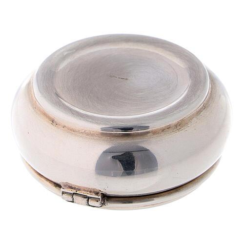 Portarosario rotondo 4 cm in argento 925 3