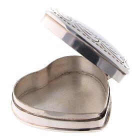 Caja para rosario corazón con incisiones de plata 925 s2