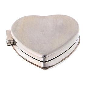 Caja para rosario corazón con incisiones de plata 925 s3
