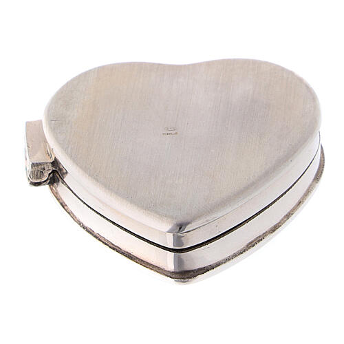 Portarosario cuore con incisioni in argento 925  3