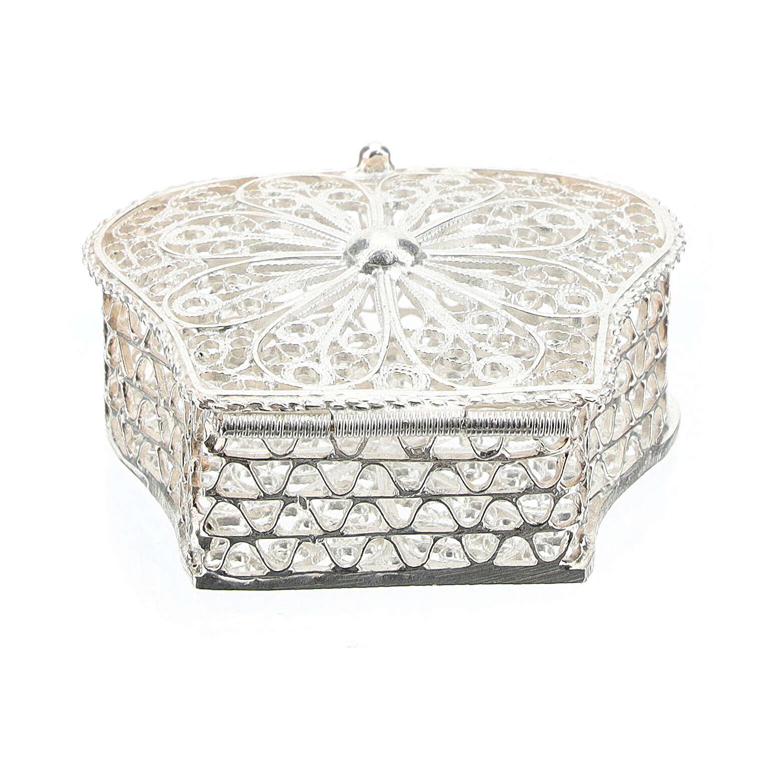 Caja para rosario corona filigrana de plata 925 4