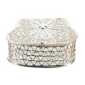 Caja para rosario corona filigrana de plata 925 s1