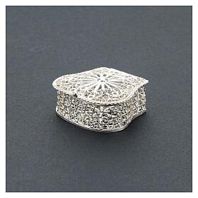 Caja para rosario corona filigrana de plata 925 s2