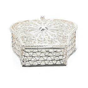 Caja para rosario corona filigrana de plata 925 s4