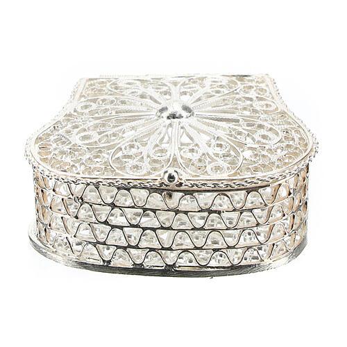 Caja para rosario corona filigrana de plata 925 1
