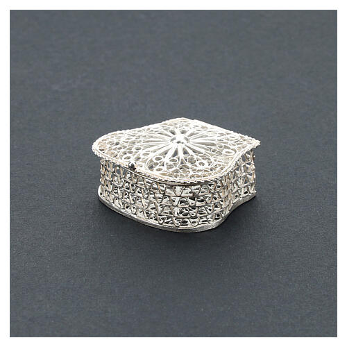 Caja para rosario corona filigrana de plata 925 2
