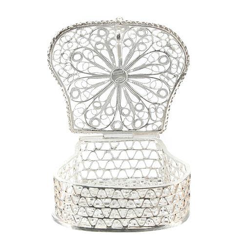 Caja para rosario corona filigrana de plata 925 3