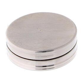 Caja para rosario de plata 925 redonda incisiones s3