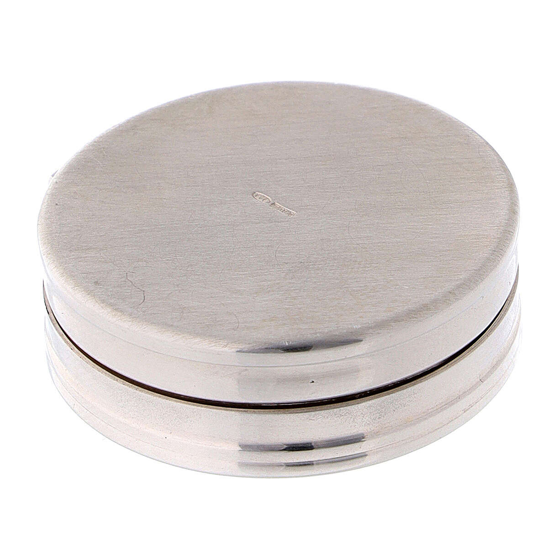 Portarosario in argento 925 tondo incisioni 4