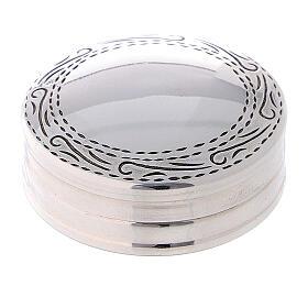 Portarosario in argento 925 tondo incisioni s1